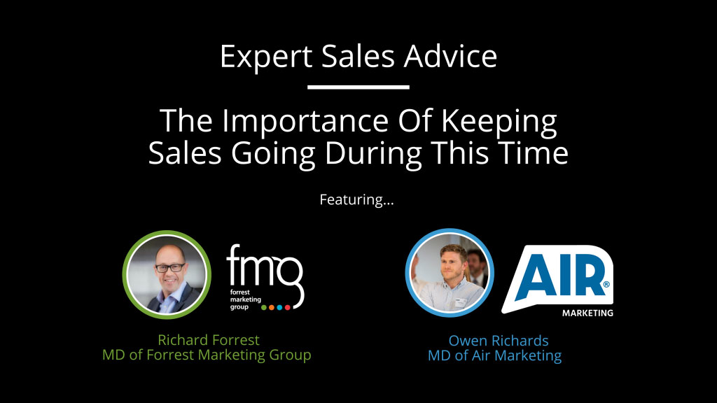 Expert Sales Advice: The Importance Of Keeping Sales Going During This Time