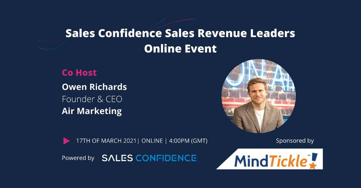 Sales Confidence's Sales & Revenue Leaders Event – 17th March 2021