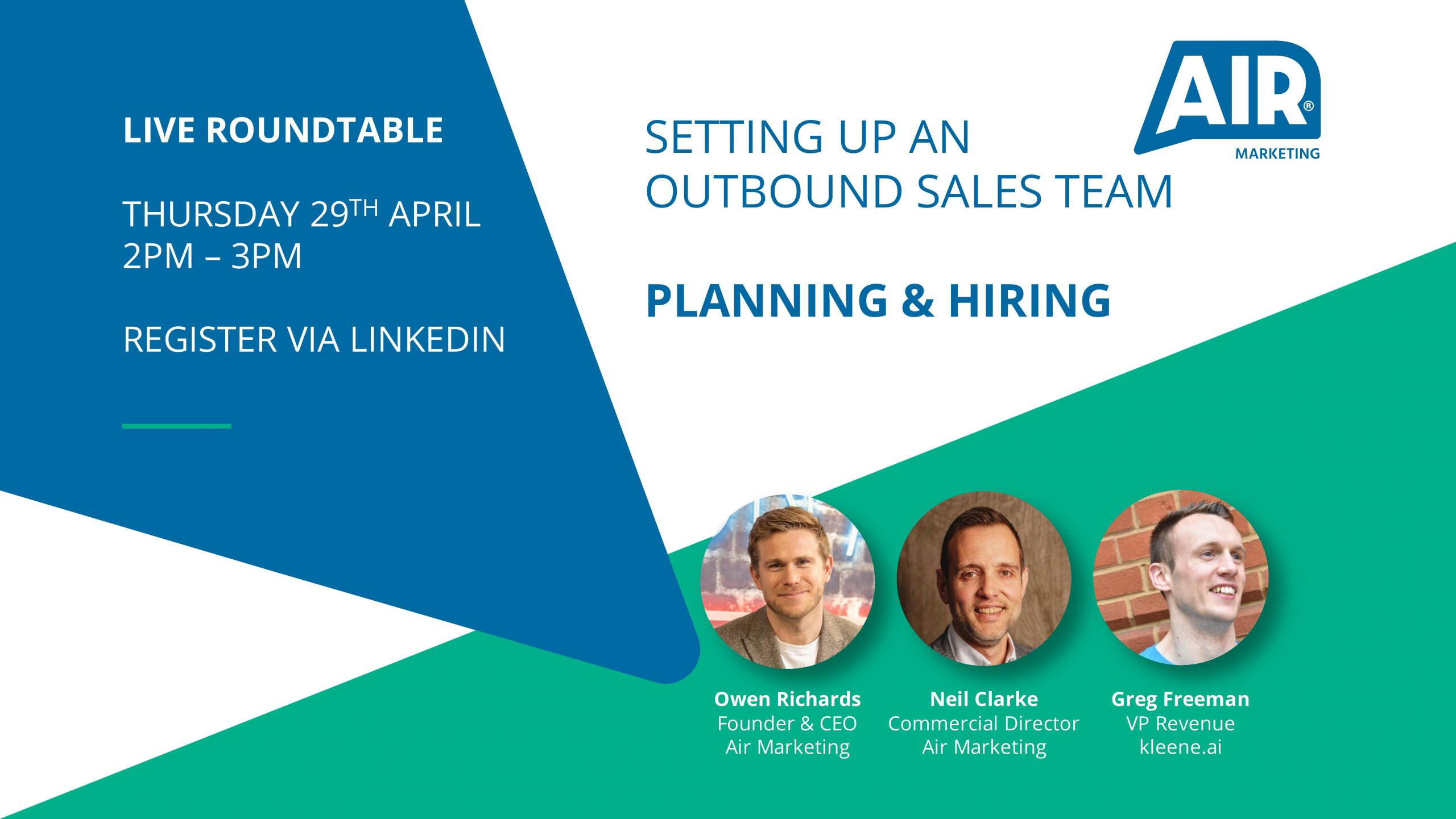 LIVE Roundtable: Setting Up An Outbound Sales Team – Planning & Hiring
