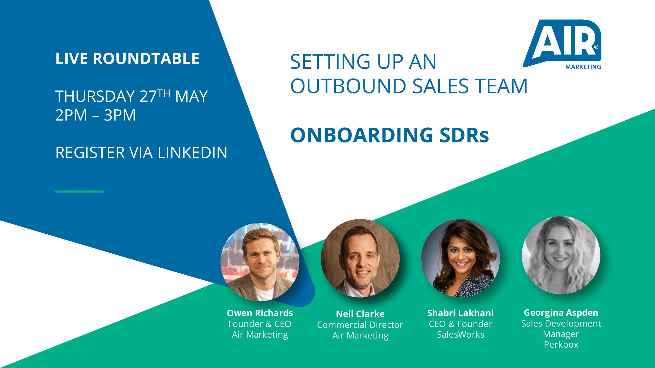 LIVE Roundtable: Setting Up An Outbound Sales Team – Onboarding SDRs