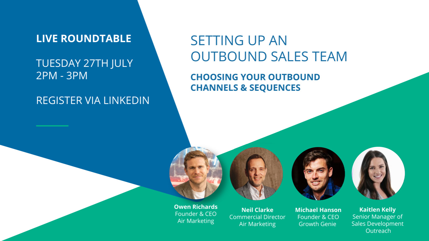 LIVE Roundtable: Choosing Your Outbound Channels & Sequences