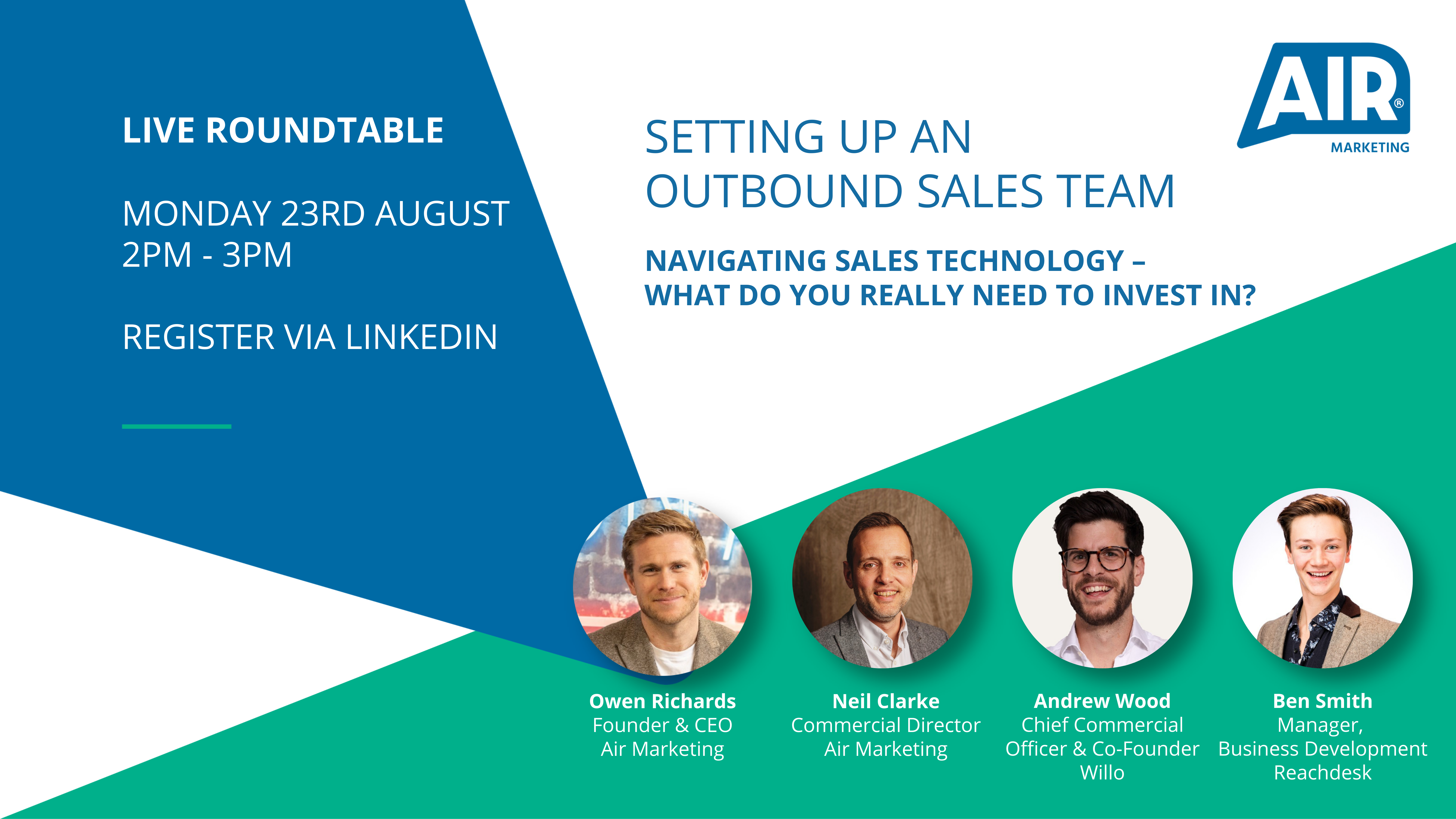 LIVE Roundtable: Navigating Sales Technology – What Do You Really Need To Invest In?