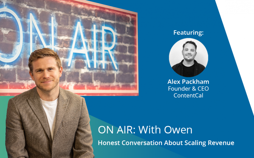 ON AIR With Owen - Alex Packham (ContentCal) Title Slide