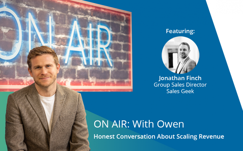 ON AIR With Owen - Jonathan Finch (Sales Geek) Video Title Slide